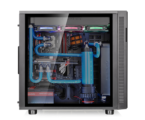 image of Thermaltake Suppressor F31 featuring a custom water-cooling loop