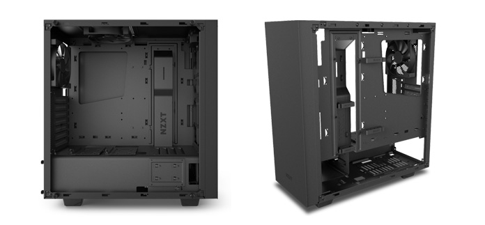 image of s340 elite matte black case front and back
