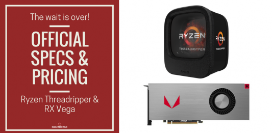 AMD Announced Threadripper and RX Vega: Here are the specs and all you need to know