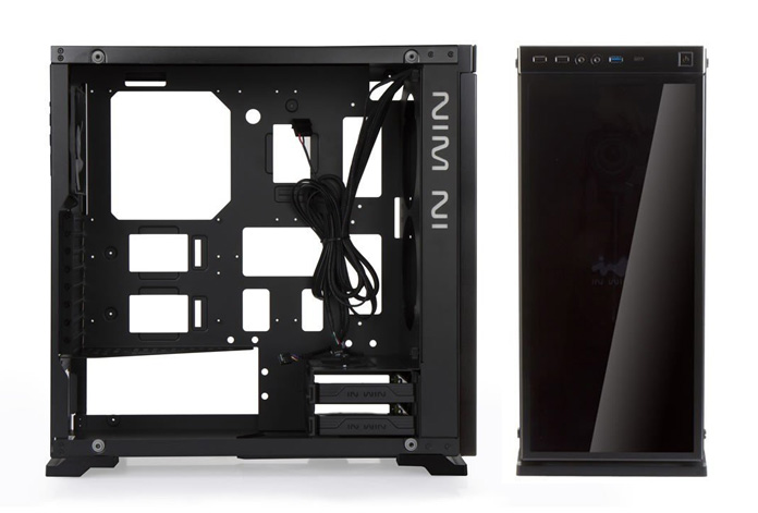 image on the In win 805 infinity front and side view