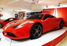 Image of Ferrari car showcase