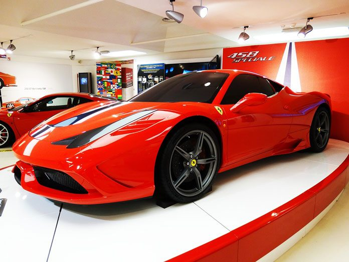 Image of Ferrari car showcase