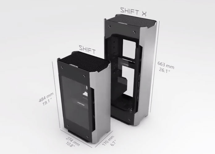 Enthoo Evolv Shift & Shift X size comparison image