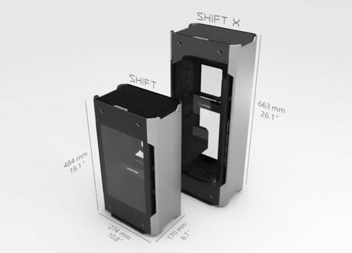 Enthoo Evolv Shift & Shift X size comparison image