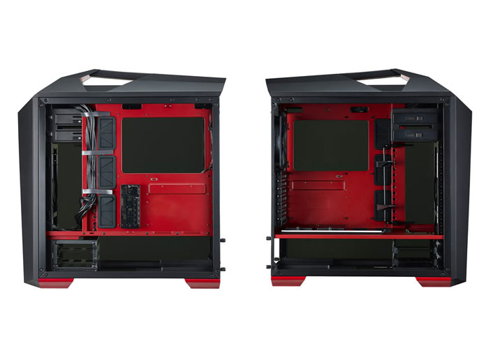 left and right side of the MasterCase Maker 5t uncovered