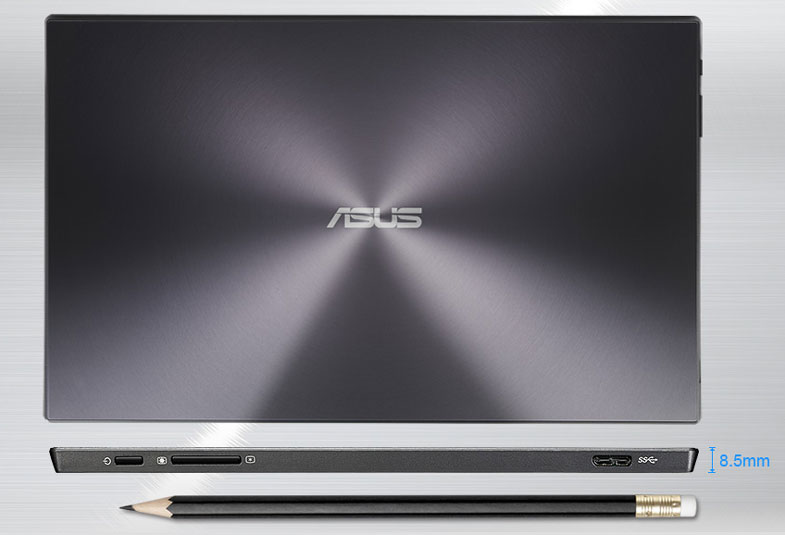 asus monitor slim profile compared to a pen