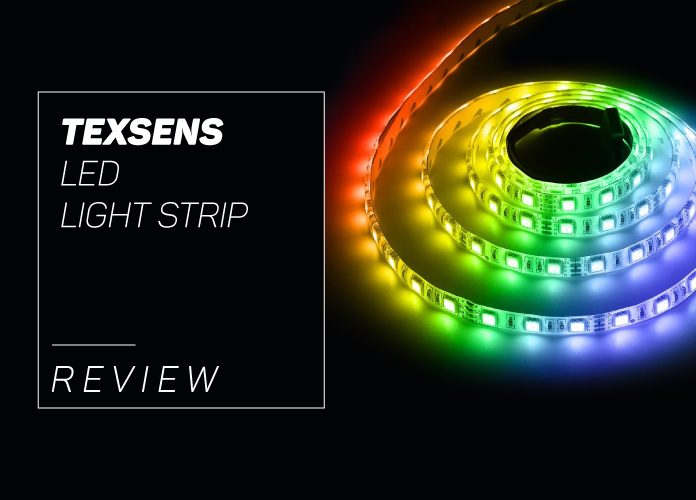Texsens led light strip review our thoughts for 2018 our texens led light strip overview aloadofball Choice Image