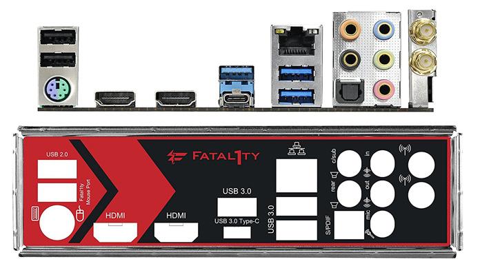 ASRock Mini-ITX Back Panel