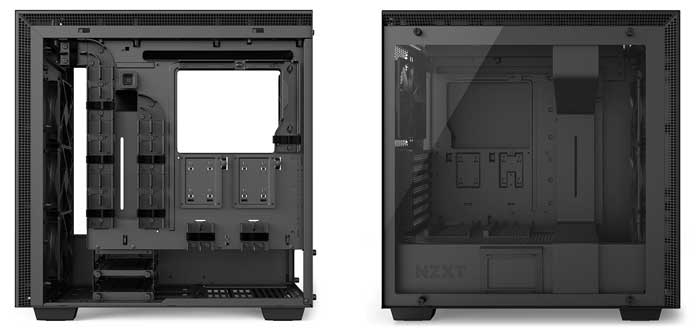 left and right side of the NZXT H700i