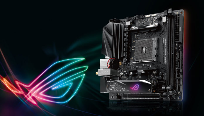 picture of ROG Strix X470-I Gaming with a logo