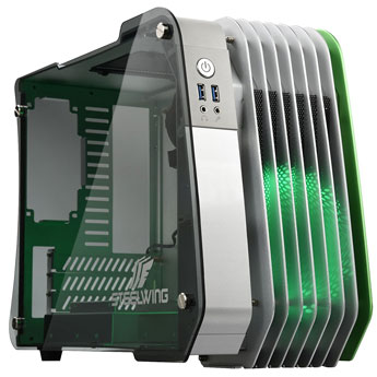 product image of the Enermax STEELWING Green Micro ATX