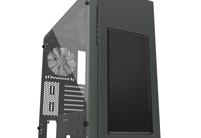pc case with an acrylic side panel
