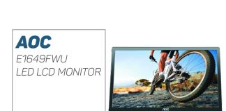 AOC E1649FWU LED LCD Monitor