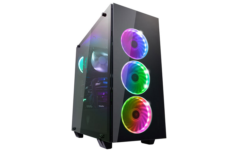tempered glass panels with 5 rgb lighting models